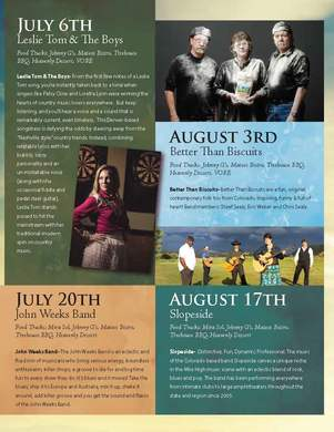 Flying Horse Colorado I Summer Concerts