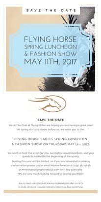 Flying Horse Colorado I Spring Luncheon & Fashion Show